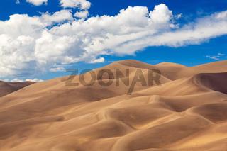 Panorama of Great Sand Dunes NP