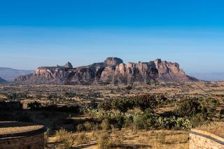 Landscape in Gheralta in Northern Ethiopia, Africa