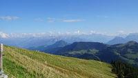 Swiss mountains in autumn