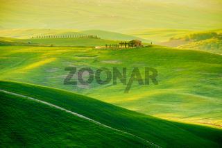 Waves hills, rolling hills, minimalistic landscape