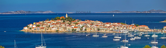 Town of Primosten Adriatic archipelago panoramic view