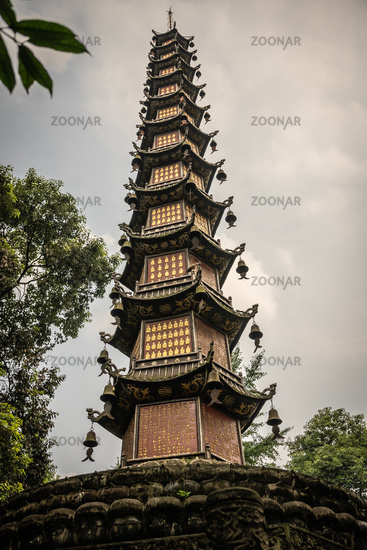 Thousand Buddha Pagoda in Chengdu