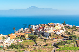 The village Agulo in the north of La Gomera