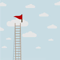 Ladder Clouds Flag