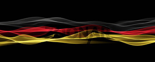 Abstract illustrated german color panorama design for sport events
