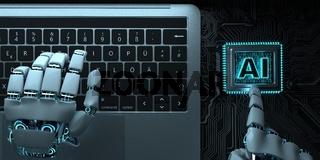 Robot Hands Notebook AI Processor