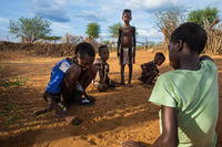 Hamer tribe guys playing a game