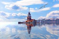 Leander's Tower in the Marmara sea, the Bosporus. Istanbul