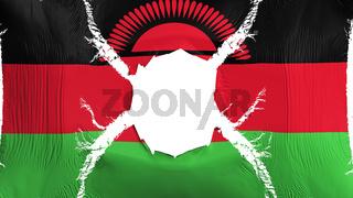 Malawi flag with a hole