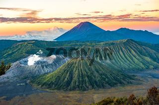 Bromo volcano at sunrise, Java Island, Indonesia