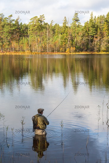 Fly fishing in Forest Lake