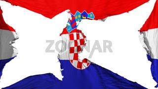 Destroyed Croatia flag