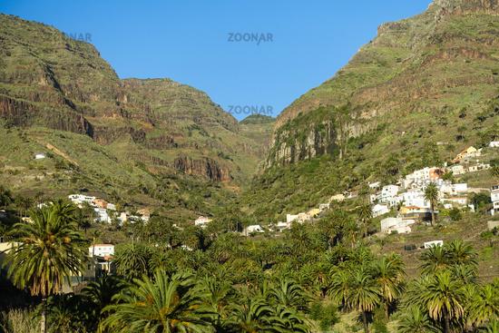 View direction La Vizcaina at Valle Gran Rey, La Gomera, Spain