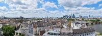 Panorama Luftaufnahme von Frankfurt am Main Skyline