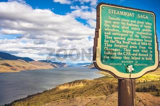 Savona Kamloops British Columbia Canada am 30.06.2014 Steamboat Saga Viewpoint am Kamloops Lak