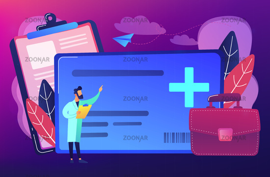 Healthcare smart card concept vector illustration.