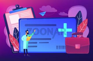 Healthcare smart card concept vector illustration.