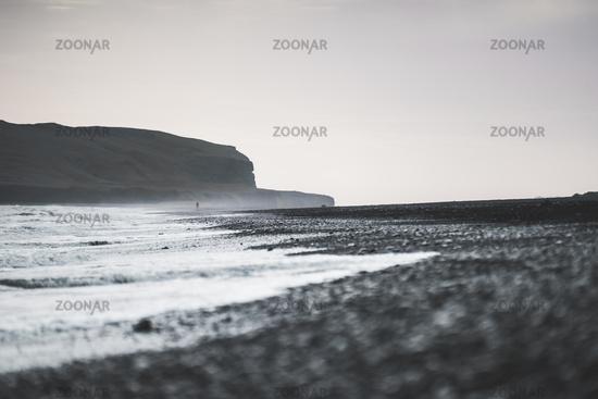 Reynisfjara Black Sand Beach, Iceland Ground Landscape