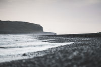 Reynisfjara Black Sand Beach, Iceland Ground Landscape