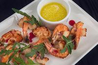 Fried tasty shrimps