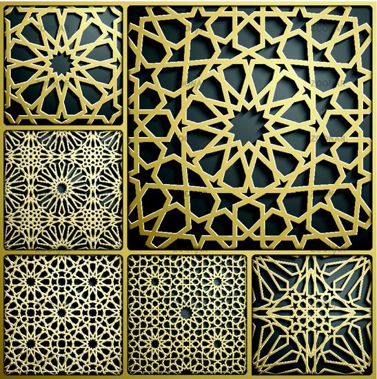 Islamic ornament vector , persian motiff . 3d ramadan islamic round pattern elements . Geometric circular ornamental arabic symbol vector . Gold background Islamic ornament vector , persian motiff . 3d ramadan islamic round pattern elements . Geometric ci
