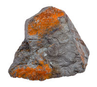 rough Hematite ore isolated on white