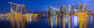 Panorama Singapore Marina bay Downtown