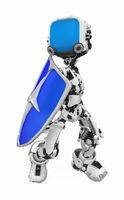 Blue Screen Robot, Shield