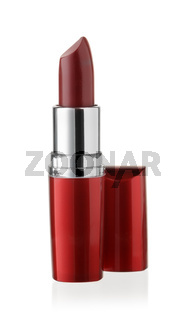 Front view of wine red lipstick