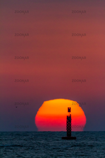 Sunset on the beach of Sanlucar de Barrameda