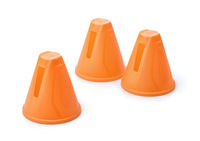 Plastic orange slalom skating cones