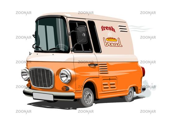 Vector Cartoon retro delivery van