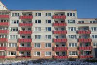 house facade, slab construction