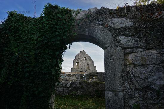 Ruin Hohenurach near Bad Urach, Swabian Alb, germany