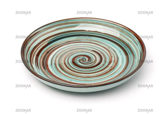 Empty vintage  ceramic plate