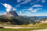 the Sassolungo - Langkofel group, valley Gardena. Dolomites, Italy