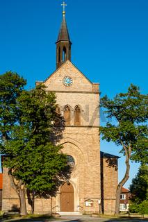 Blick auf die Kirche von Hasselfelde im Harz
