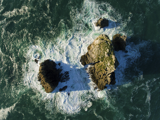 Pelies islands, Cuchia, Cantabria, Spain