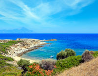 Summer sea coast (Sithonia, Greece).