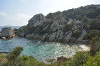 little bay at Porto Rafael Sardinia