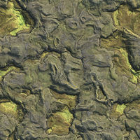 Aerial view from air plane of mountains seamless texture background. 3d illustration