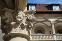 Detail of a pillar in the courtyard - Old Castle of Stuttgart