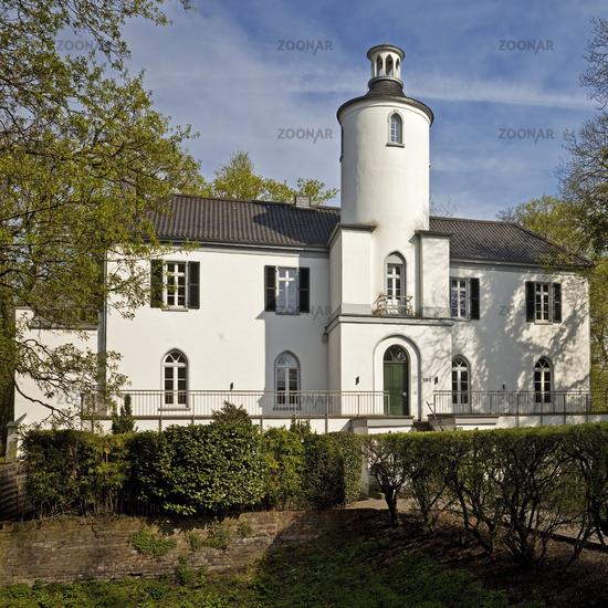Neuenhofen House in spring, Krefeld, Lower Rhine, North Rhine-Westphalia, Germany, Europe