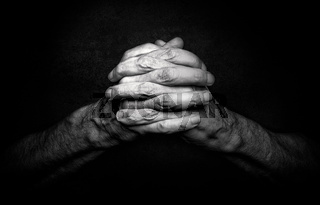 Hands of Praying Man