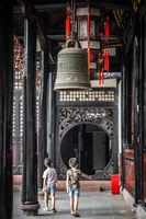 Brass Bell in Wenshu Monastery