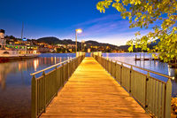 Lucerne lake pier evening view