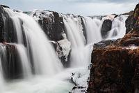 Kolugljufur waterfall in Iceland