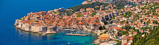 Historic town of Dubrovnik panoramic view