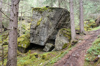 Huge rocks in the landslide area near Wiklen Ötztaler Alps, Austria