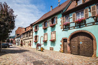 Beautiful small town Bergheim. France